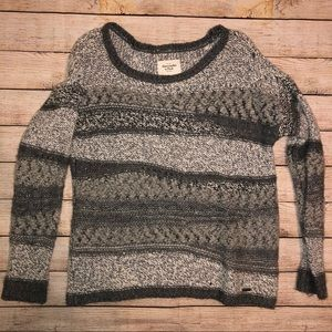 Abercrombie and Fitch Distressed Striped Sweater